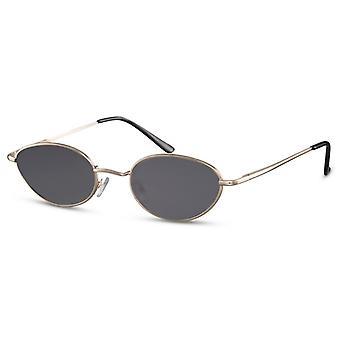 Sunglasses Unisex oval gold/black (CWI2433)