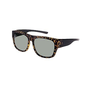 Sunglasses Unisex brown with green lens VZ0040B