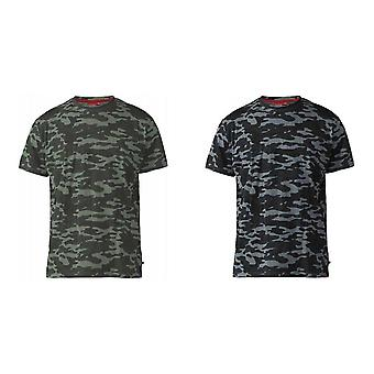 Duke Mens Gaston D555 Camouflage Print T-Shirt