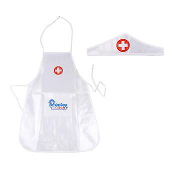 Children's Role Play Medical Uniforms Clothes- Simulation White Lab Coat Doctor Hospital Fancy Dress Costume For Kids Play House