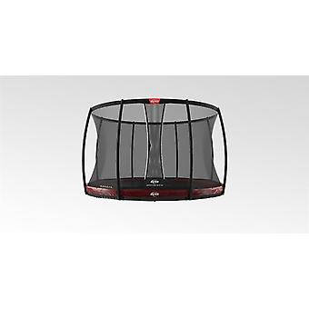 berg elite inground trampoline 430 14ft red + safety net deluxe trampoline