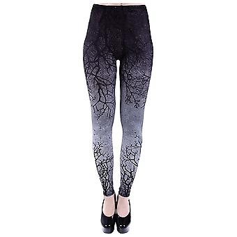 Restyle Gray Branches Ombre Leggings