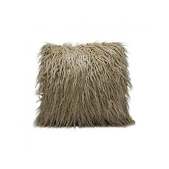 وسادة الأغنام طويل الشعر البيج 45x45