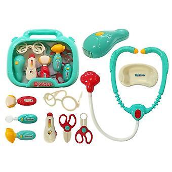 Medische kit in een turkooizen koffer Kleine dokter