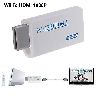Full Hd 1080p Wii To Hdmi Converter Adapter Wii2hdmi Converter 3.5mm Audio For Pc Hdtv Monitor Display (option 1)