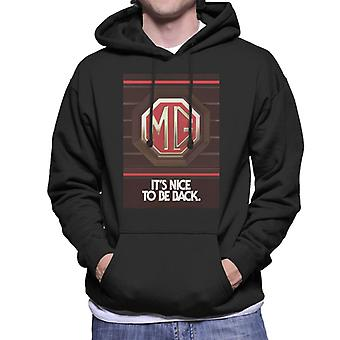 MG Its Nice To Be Back British Motor Heritage Men's Hooded Sweatshirt