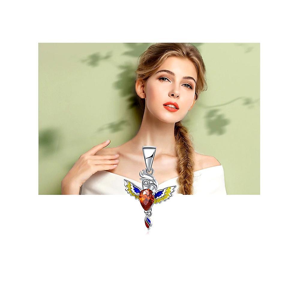 Charms Bead Perroquet en Argent 925, Cristal rouge et émail