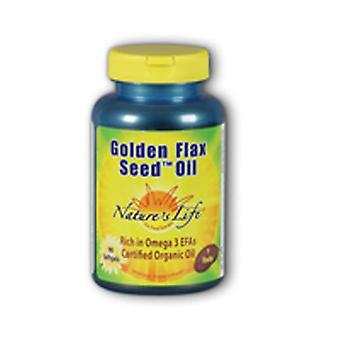 Nature's Life Golden Flax Seed Oil, 1000 mg, 180 softgels