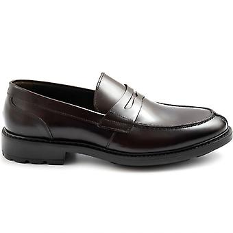 Marco Ferretti Burgundy Moccass in Brushed Leather