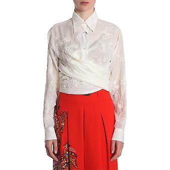 Etro 178587239990 Women's White Cotton Shirt
