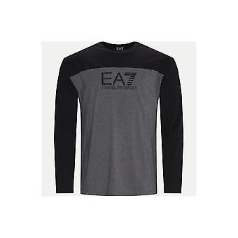 EA7 Emporio Armani Cotton Dark Grey Long Sleeve T-shirt