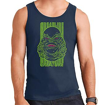 The Creature From The Black Lagoon Head Illustration Men's Vest