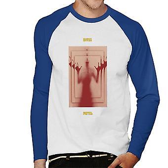 Psycho Bates Motel Norman Bates Mirror Effect Men''s Baseball Long Sleeved T-Shirt