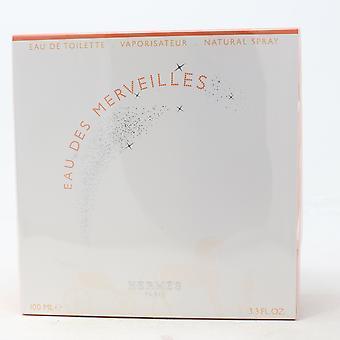 Eau Des Merveilles by Hermes Eau De Toilette 3.3oz/100ml Spray New With Box