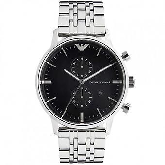 Armani Emporio Armani Gianni Watch Ar0389 Mens Black Steel Watch