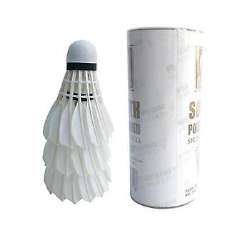 Volant durable durable de badminton de plume d'oie blanche
