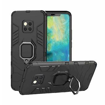 Keysion Huawei Mate 20 Case - Magnetic Shockproof Case Cover Cas TPU Black + Kickstand