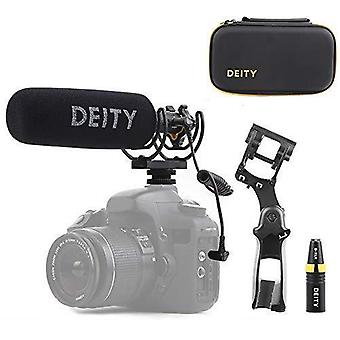Gudom v-mic d3 pro plats kit super-kardioid riktad shotgun mikrofon med rycote duo-lyra s