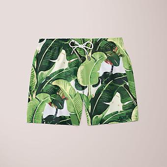 Banana leaves patroon gemonteerd taille trui design shorts