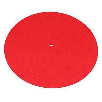 300mm Dia Turntable Slipmat Anti-Static Felt Mat Record Player Pad Red