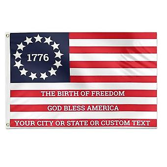 1776 Optional Text Original Betsy Ross Flag 3x5 Feet