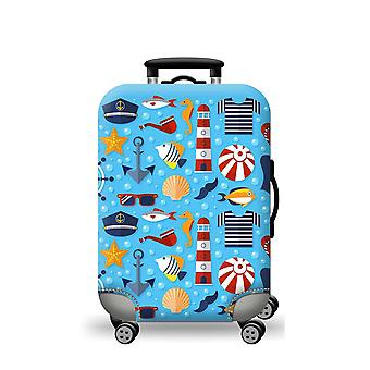 Elastic Luggage Cover Sky Blue