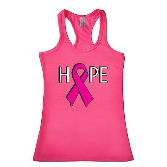 Frauen's Hoffnung Brustkrebs Bewusstsein Racerback Tank Top