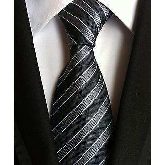 Fashion Neckties Classic Stripe Wedding Ties, Jacquard Woven 100% Silk Ties