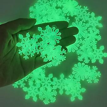 Star Energy Storage Fluorescent Glow In the dark 100 Pcs/Set 3D Luminous on Wall Stickers for Kids Room living room Decal 3cm Star Type
