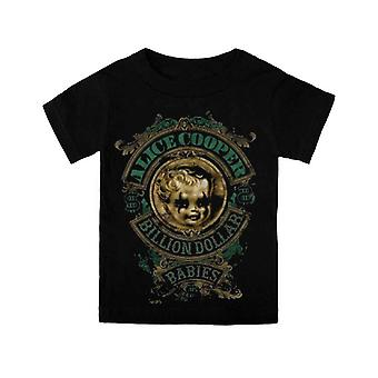 Alice Cooper Toddler T Shirt Black Billion Dollar Babies Official 3-24months