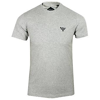 Barbour beacon men's grey marl small logo t-shirt