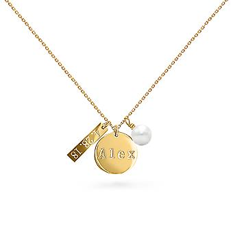 Collier My Love ID 18K Or et Diamants - Or Jaune, Perle Blanche