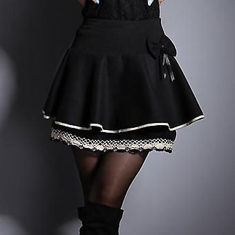 Ελαστικότητα Καλοκαιρινή Φούστα, Γυναίκες Γλυκό Floral Bowknot, Φούστες Σορτς