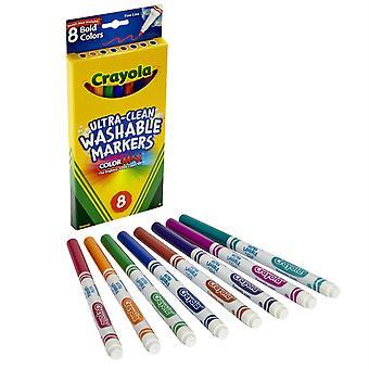 Crayola Washable Formula Markers, Fine Tip, 8 Bold Colors