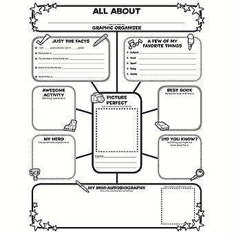 Graphic Organizer Poster, All-About-Me Web, Grades 3-6