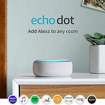 Echo dot (3a generazione) - altoparlante intelligente con alexa - solo dispositivo echo dot in tessuto arenaria