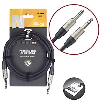 Stagg nac3psr 3m n series 1/4 inch jack to 1/4 inch jack cable
