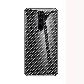 Upea iskunkestävä karkaistu lasikotelo Redmi Note 8 Prolle - Musta