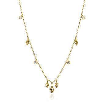 Ania Haie Sterling Silver Shiny Gold Plated Bohemia Necklace N016-03G