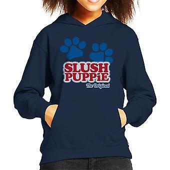 Slush Puppie Paws Logo Den Opprinnelige Kid's Hettegenser