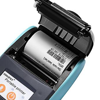 Mini Bluetooth Wireless Thermal Receipt Ticket Printer Bill Machine (niebieski kolor