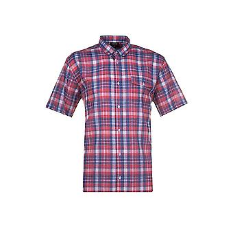 Espionage Navy & Red Multi Check Shirt