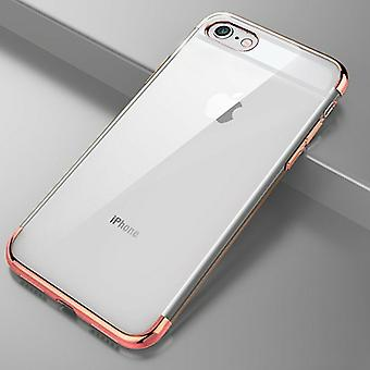 Soft TPU TRIM Case voor iPhone, Slim Siliconen Back Case 6 - Rose Gold