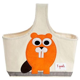 3 Sprouts Bag with handle - Castor