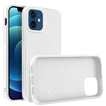 Back Cover For Apple iPhone 12/12 Pro Flexible Shockproof Rhinoshield white