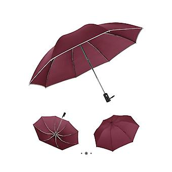 Automatic Reverse Folding Business Umbrella With Reflective Strip