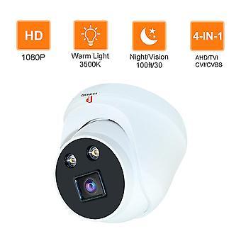 Pripaso 4 in 1 TVI/AHD/CVI Camera 1080P Wide View Mini Dome CCTV Camara Night Vision 3.6mm Lens Anal