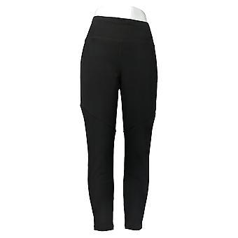 Susan Graver Petite Leggings Premium Stretch Pull On Black A367249