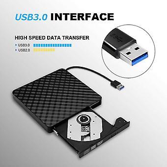 Usb3.0 Höghastighets svart extern kombination optisk enhet Cd / dvd-spelare