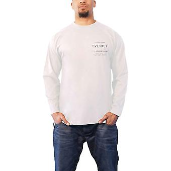 Twenty One Pilots T Shirt Official Trench Rose Band Logo Mens White Long Sleeve